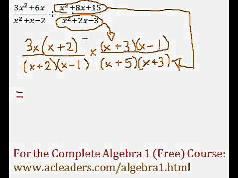 (Algebra 1) Rational Expressions - Division Question #8