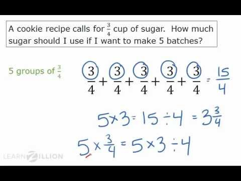 Multiply fractions by whole numbers by describing the problem - 5.NF.4