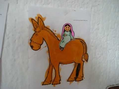 Christmas-Pin Mary on donkey