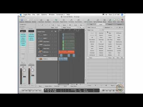 Apple Logic Pro 8 Ch 7 The Loop Browser - View, Signature, Display Buttons, Loop List