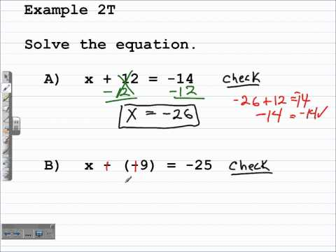 How to Solve One Step Equations | Algebra 1