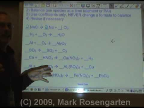 Chemistry Tutorial 8.01a:  Balancing Reactions