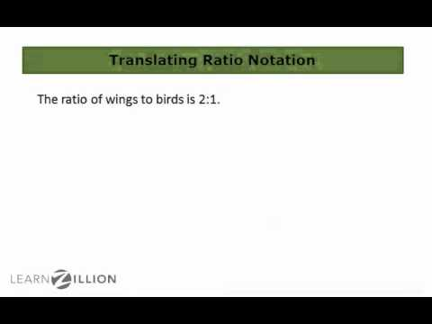 Translate ratios into words - 6.RP.1