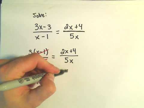 Solving a Basic Rational Equation - Ex 3