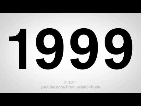 How To Pronounce 1999