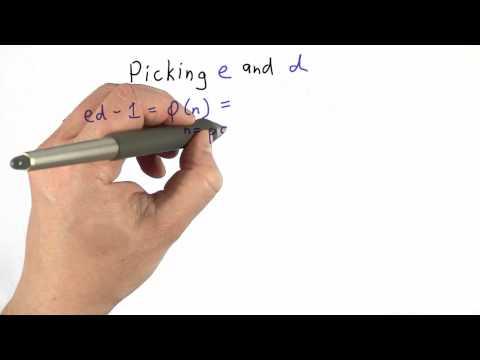 Picking E And D - CS387 Unit 4 - Udacity
