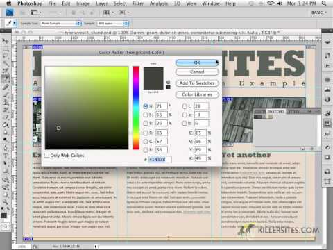 Photoshop for the Web - Background Images