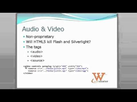 Webinar Clip: HTML5 Audio and Video