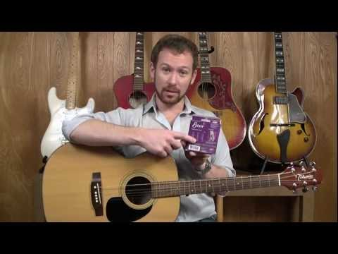 How to String an Acoustic Guitar - Stringing a Guitar | StrumSchool com