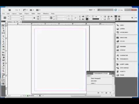 InDesign Tutorial : How To Import Paragraph and Character Styles in Adobe InDesign CS5