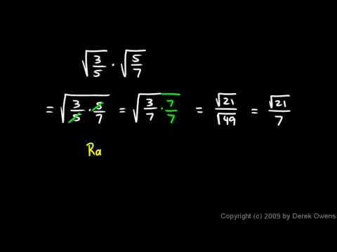 Algebra 1  11.7c - Simplifying Radicals with Fractions