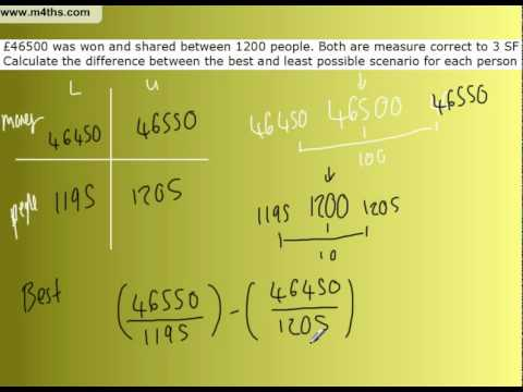 GCSE Upper and Lower Bounds Example 1