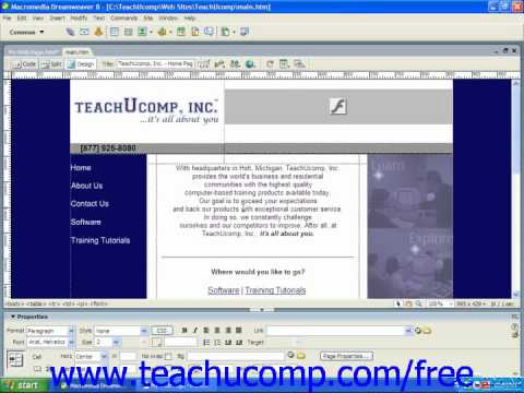 HTML Tutorial Advanced HTML Editors Training Lesson 1.9