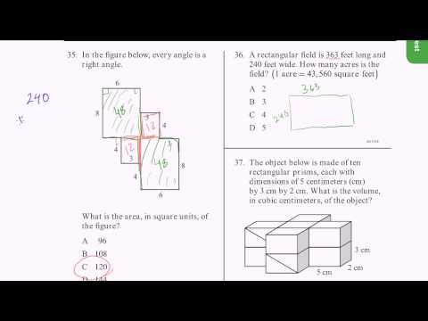 CAHSEE Practice: Problems 35-37