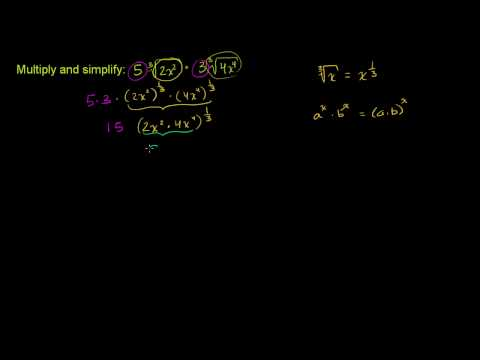 Multiply and Simplify a Radical Expression 1