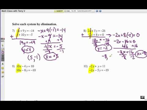 How to Solve Systems of Equations: Elimination 1