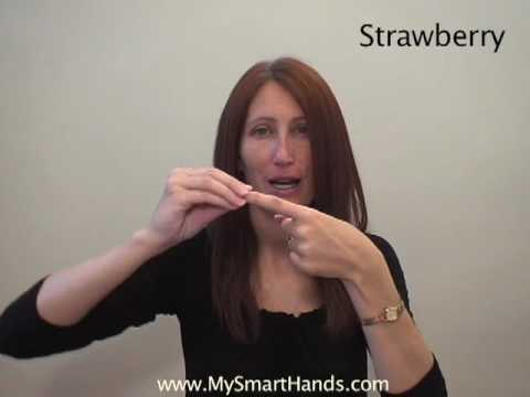 strawberry - ASL sign for strawberry