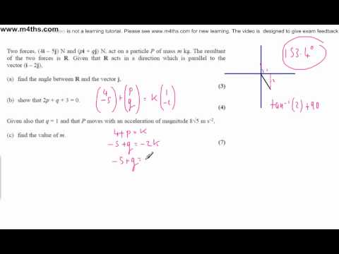 (q6) M1 January 2009 Edexcel Mechanics Past Paper