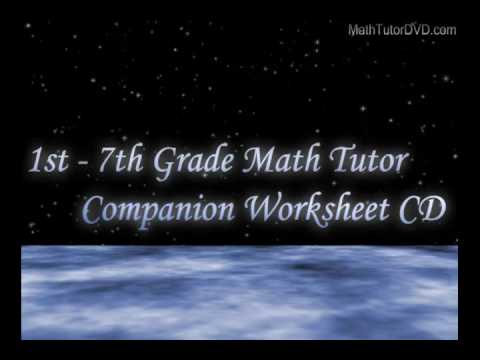 1st - 7th Grade Math Tutor Companion Worksheet CD Trailer