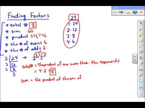 Factors of Integers