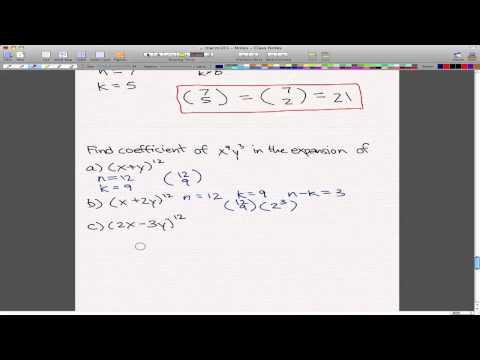 Discrete Math 1 - Tutorial 8 - Binomial Theorem Examples