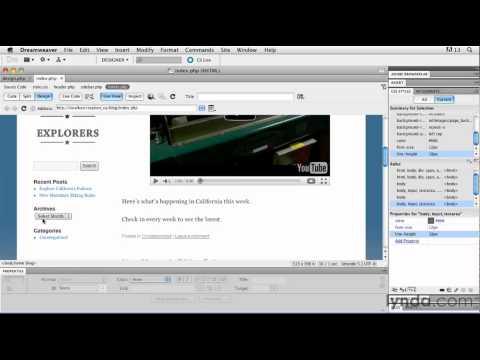 How to use WordPress widgets | lynda.com tutorial