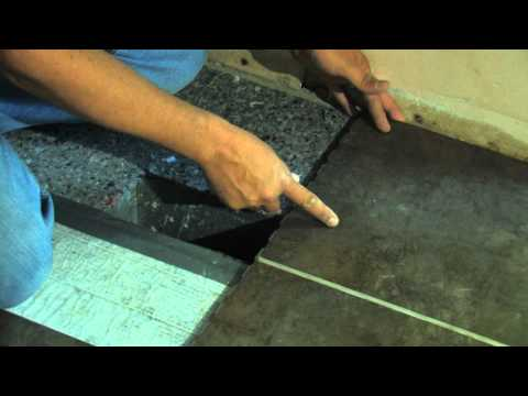 SnapStone Porcelain Tile Installation - Measuring the Cut