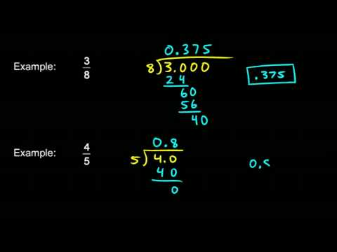 Prealgebra 5.5a - Converting Fractions into Decimals