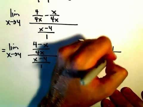 Limits Involving a Fraction