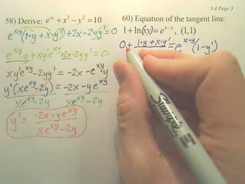 5.4c2 Exponential Differentiation and Integration - Calculus
