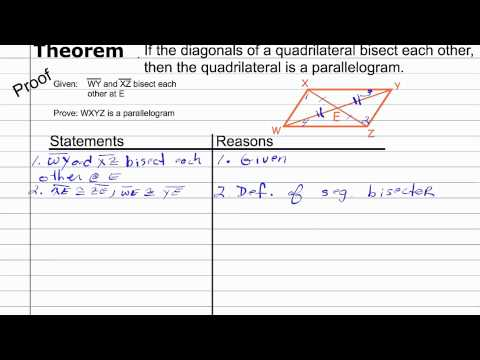Proving a Quadrilateral a Parallelogram | Geometry Proof How To Help