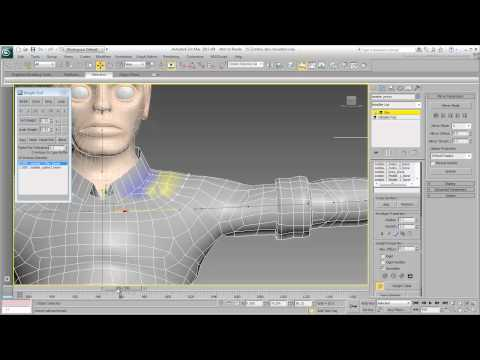 Skinning the Character - Part 7 - Shoulders