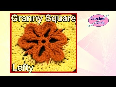 Left Hand Embossed Crochet Flower - Circle to Square 4