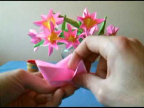 Bouquet of Pink Origami Flowers
