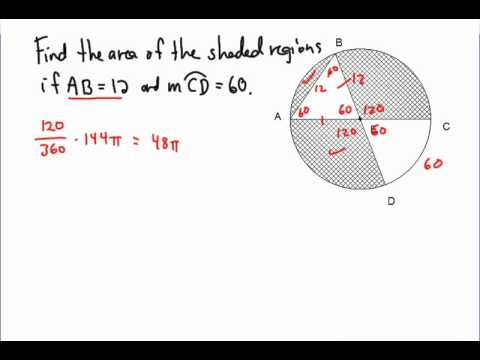 Area of a Shaded Region in a Circle