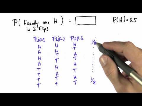 One of Three 1 Solution - Intro to Statistics - Probability - Udacity