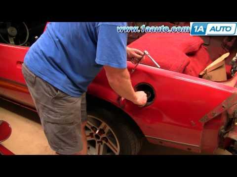 How to Install Replace Fuel Door and Fuel Filler neck Bezel Chevy Camaro IROC-Z 1AAuto.com