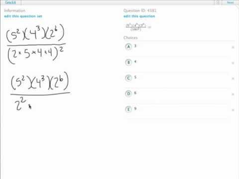 Grockit GMAT Quantitative - Problem Solving: Question 4381