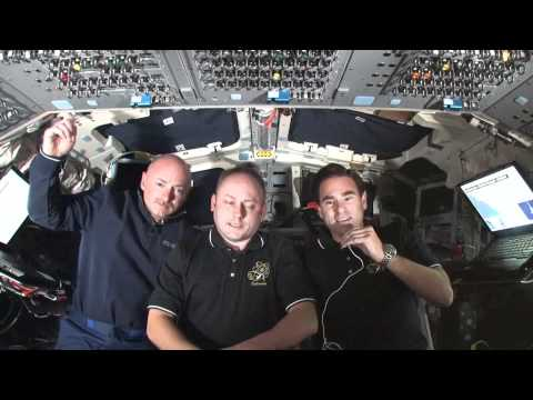 Kelly, Fincke and Chamitoff Chat from Space