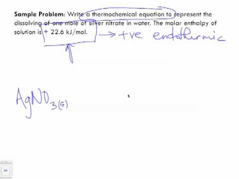 Writing Thermochemical Equations with Energy Terms Sample Problem 2