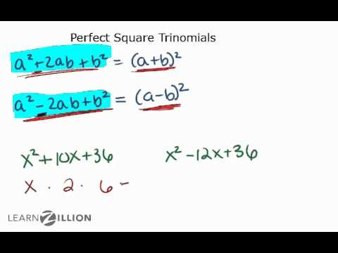 Factor perfect square trinonomials - A-REI.4