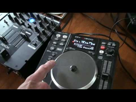 DENON DN-S1200  Tutorial on low, mid high filters