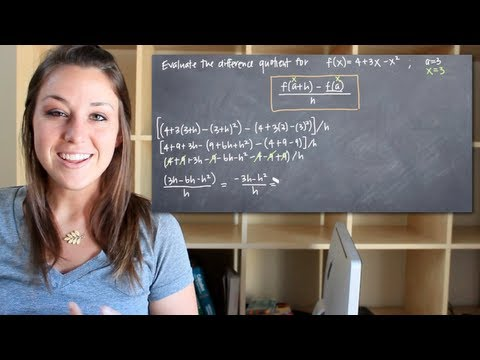 How to calculate the difference quotient