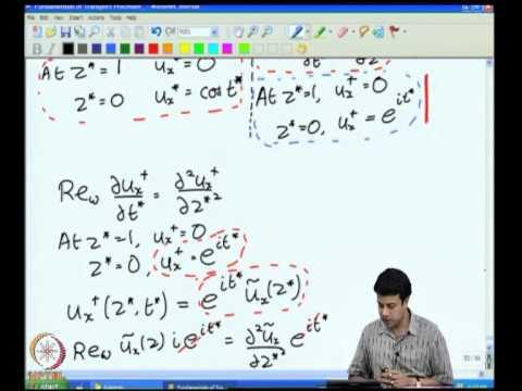 Mod-03 Lec-13 Unidirectional Transport Cartesian Coordinates - VI Oscillatory Flows