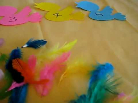 Toddler-Math. Bird feathers