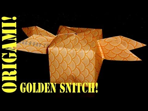 HOW TO MAKE AN (ORIGAMI) PAPER: HARRY POTTER GOLDEN SNITCH - TCGAMES [HD]