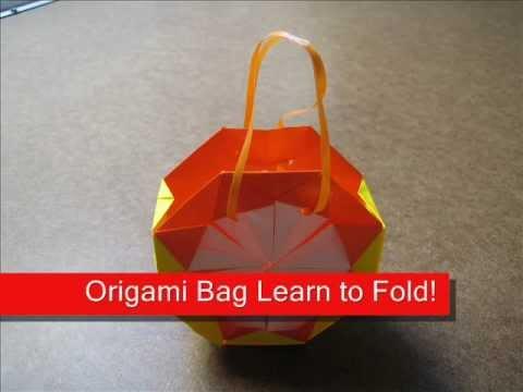How to Fold Origami Diamond Bag - OrigamiInstruction.com