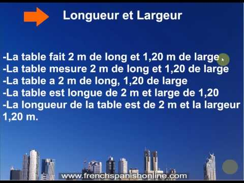 Size and Weight in French, how to learn french