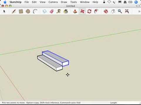 SketchUp: Making Stairs: The Treads are Components method
