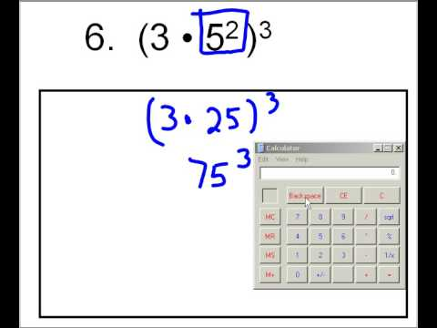 Rules of Exponents and Order of Operations